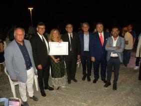 Premio Speciale Campana di Burgio 2019 con direttore di tv 2000 Vincenzo Morgante e Presidente Antonino Sala